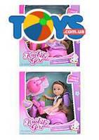 Кукла на мотороллере, 2 вида, с аксессуарами, BLD229