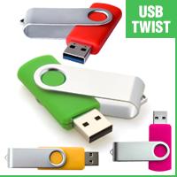USB флешки с поворотным корпусом (Твистер)
