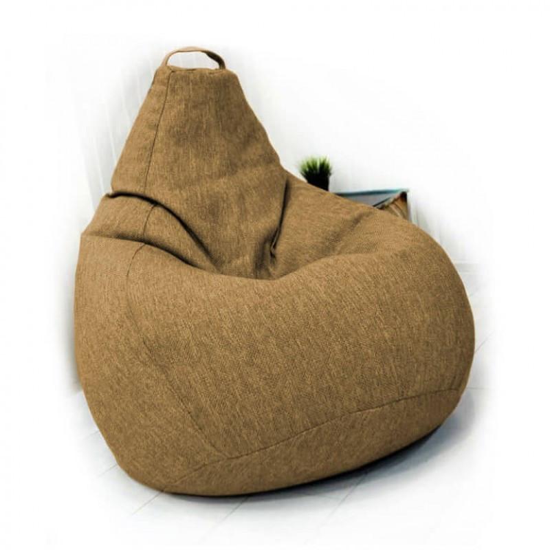 Кресло-груша KatyPuf бежевое Рогожка