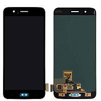 Дисплей для OnePlus 5 A5000 + тачскрин, черный,  OLED, копия хорошего качества