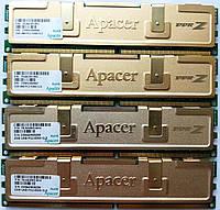 Комплект игровой оперативной памяти Apacer DDR2 8Gb (4*2Gb) 667MHz PC2 5300U 2R8 CL5 (78.AAG9O.9K4) Б/У, фото 1