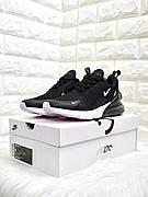 🔰Мужские кроссовки Nike Air Max 270 Чёрно-Белые