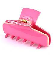 Краб для волос длина 8см розовый К2340-1-1