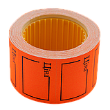 Цінник 35*25мм ЦІНА (240шт, 6м) прямокутний, зовнішня намотування, фото 2