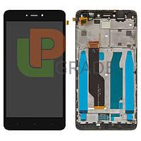 Дисплей для Xiaomi Redmi Note 4X + тачскрин, черный, с передней панелью, оригинал (Китай)