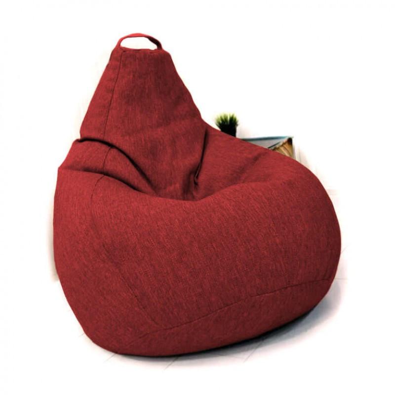 Кресло-груша KatyPuf красное Рогожка