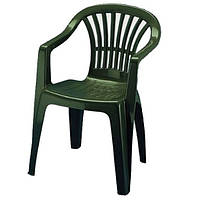 Кресло пластиковое зеленое Италия, фото 1