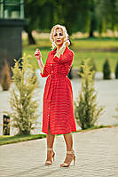 Трикотажное платье -рубашка, фото 1