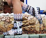 Сапожки женские кружевной гипюр летние. Подошва: черная и белая. Разные расцветки. Размеры: 36-42, код 4625О, фото 8