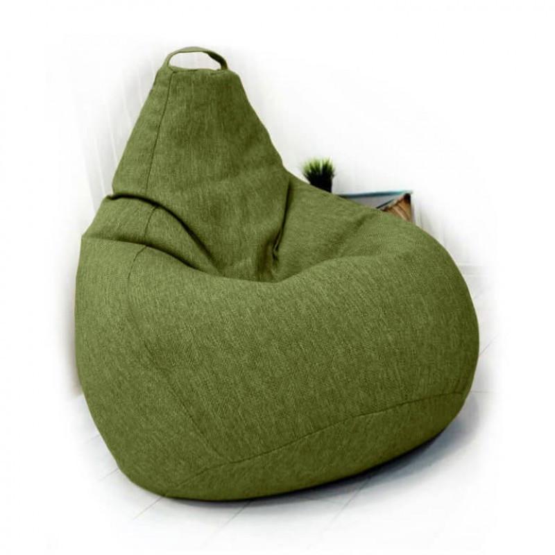 Кресло-груша KatyPuf салатовое Рогожка