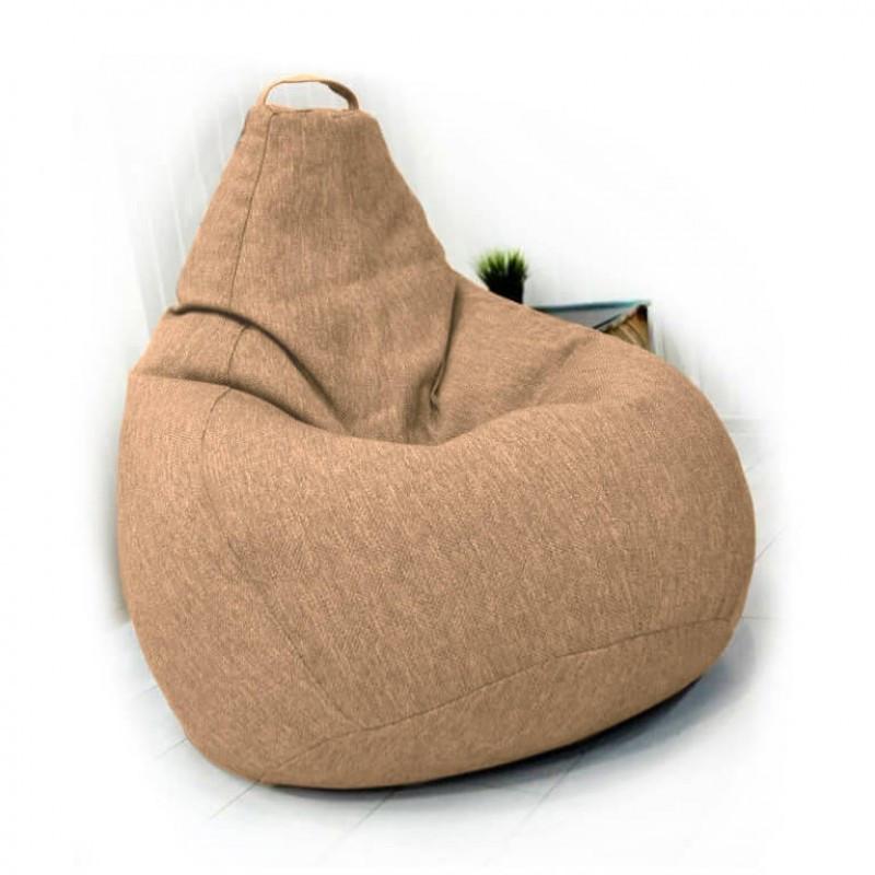 Кресло-груша KatyPuf светло-бежевое Рогожка