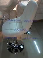 Барный стул B-45 белый от Vetro Mebel, кожзам + квадрат