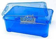 Емкость для хранения 31,5л универсальная (для вещей, пищи) пластик с крышкой (цвет - синий) Ал-Пластик Украина