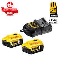 Зарядное устройство  DCB115P2 + 2 аккумулятора DCB184 Код:999703963