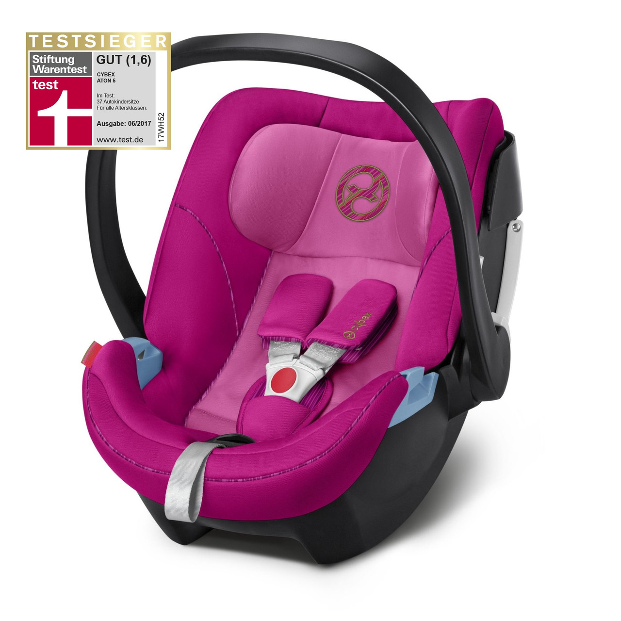 Автокресло Cybex Aton 5 Fancy Pink purple PU1