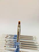 Трансформер кисть для геля - квадрат (металлическая)