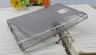 Силиконовый чехол Duotone для BlackBerry Passport  серый