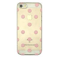 Чехол накладка на iPhone 5/5s/se силиконовый с принтом розовые круги