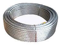 Трос стальной оцинкованный  5мм (100 м)