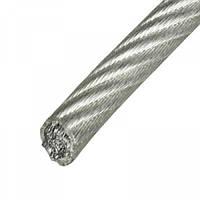 Трос стальной оцинкованный в ПВХ оболочке (50 МЕТР)   3 мм-4 мм (50 м)
