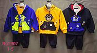 Трикотажный костюм-тройка для мальчиков Setty Koop оптом, 1-5 лет.