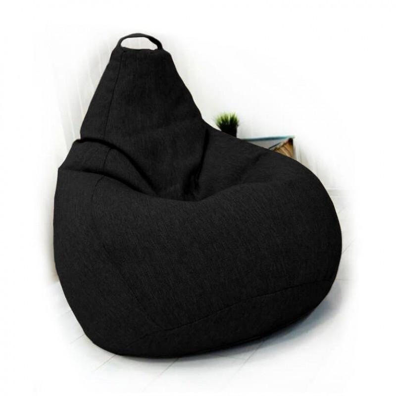 Кресло-груша KatyPuf черное Рогожка
