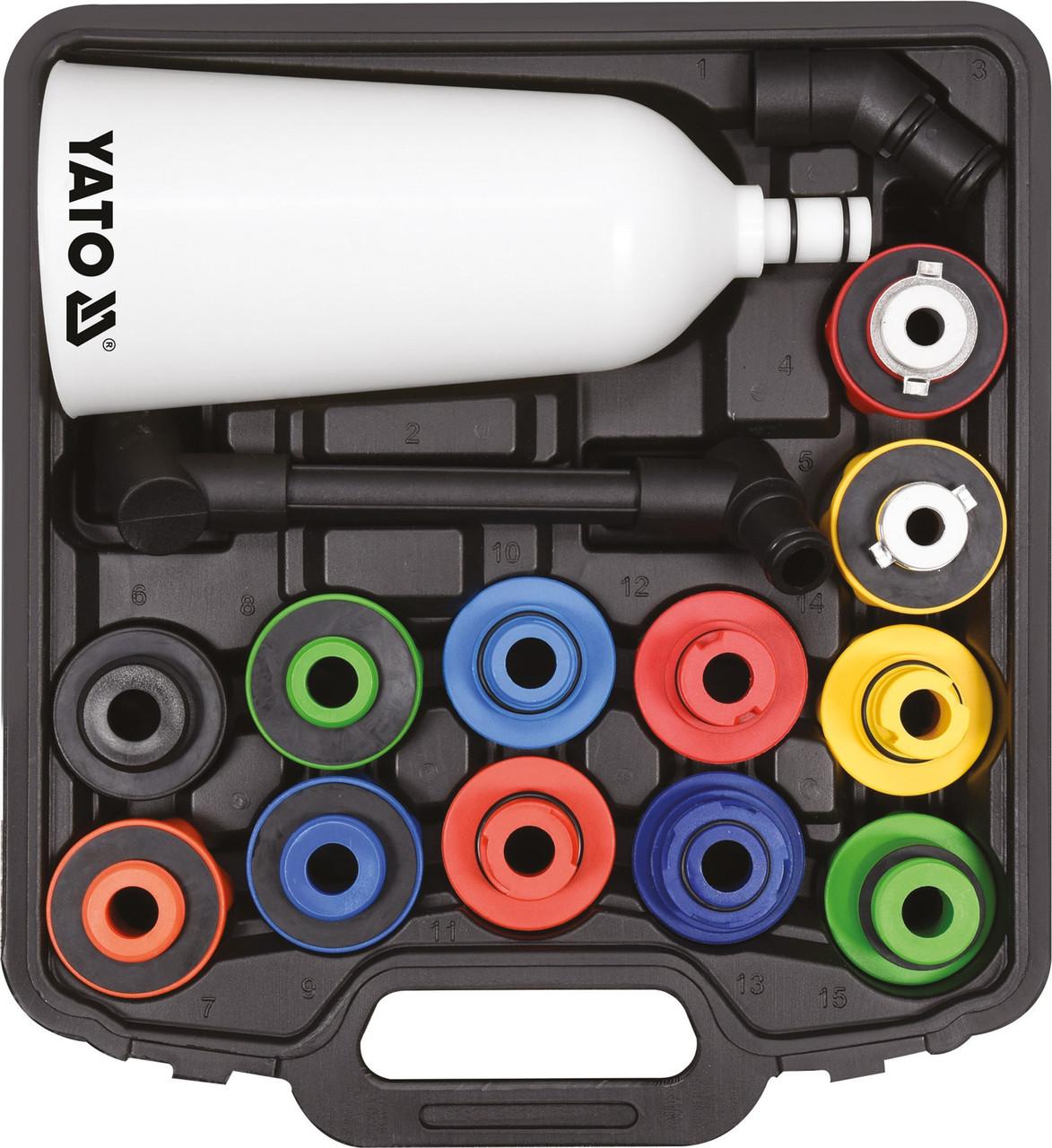 Воронка для заливання масла в двигуни з адаптерами YATO YT-06919