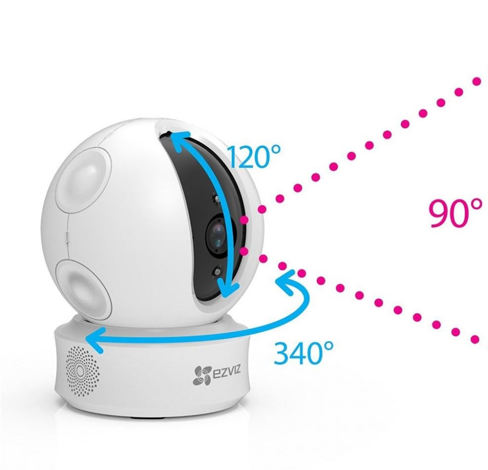 Камера видеонаблюдения 1 Мп поворотная Wi-Fi видеокамера EZVIZ CS-CV246-A0-3B1WFR