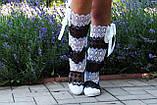 Сапожки женские кружево макраме летние. Подошва: черная и белая. Разные расцветки. Размеры: 36-42, код 4634О, фото 3