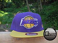 РАСПРОДАЖА Кепка Snapback Los-Angeles Lakers бейсболка с прямым козырьком