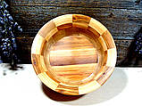 Деревянная сегментная ваза для фруктов,тарелка, конфетница, фото 2