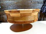 Деревянная сегментная ваза для фруктов,тарелка, конфетница, фото 5