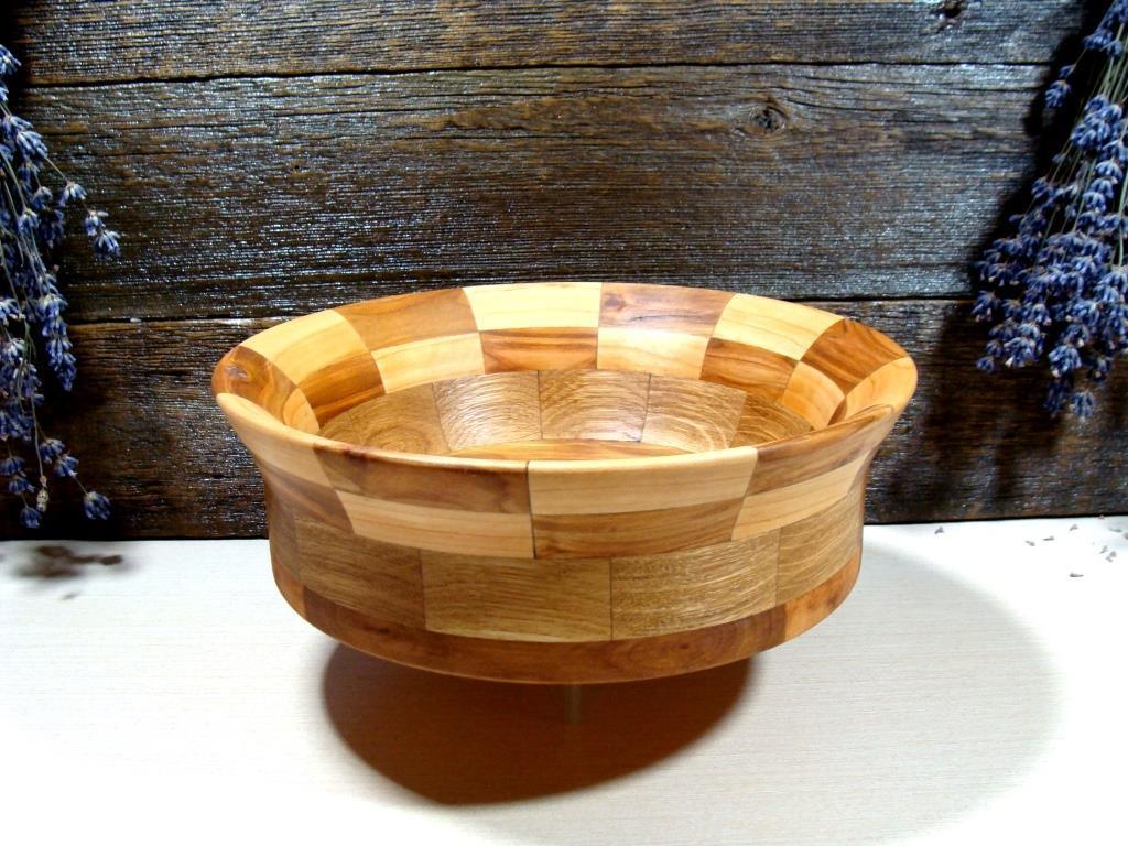 Деревянная сегментная ваза для фруктов,тарелка, конфетница