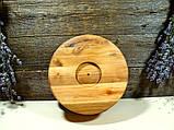 Деревянная сегментная ваза для фруктов,тарелка, конфетница, фото 3