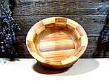 Деревянная сегментная ваза для фруктов,тарелка, конфетница, фото 6