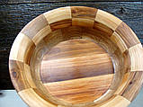 Деревянная сегментная ваза для фруктов,тарелка, конфетница, фото 7