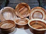 Деревянная сегментная ваза для фруктов,тарелка, конфетница, фото 8