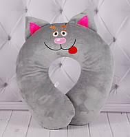 """Подушка, подголовник """"Котенок"""" в 3 цветах 25 см, детская подушка"""