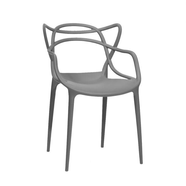 Штабелируемый  стул пластик Bari (Бари) темно-серый 21 Onder Mebli