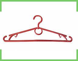Вешалка плечики кольцо пластмассовые для одежды (красная) 39 см Украина