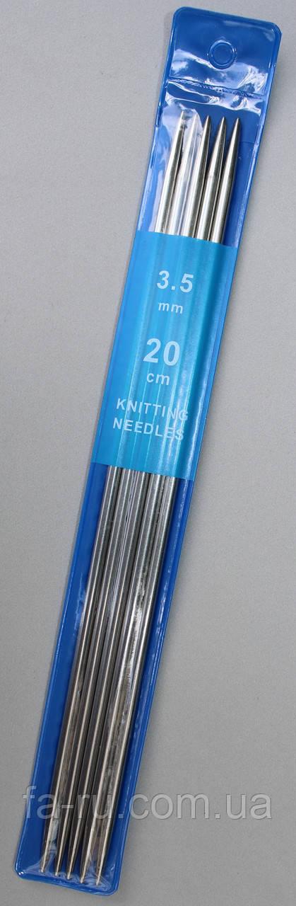 Спицы носочные  металические Ø - 3,5мм, 20см. 5шт/уп