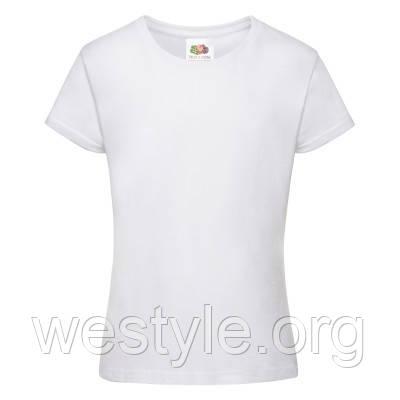 Футболка хлопковая средней плотности мягкая для девочек - 61017-30 белая