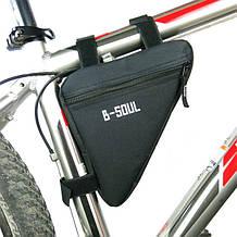 Велосумка под раму теругольная B-Soul black
