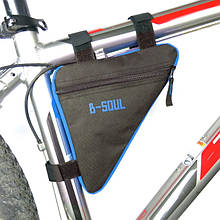 Велосумка под раму теругольная B-Soul black-blue