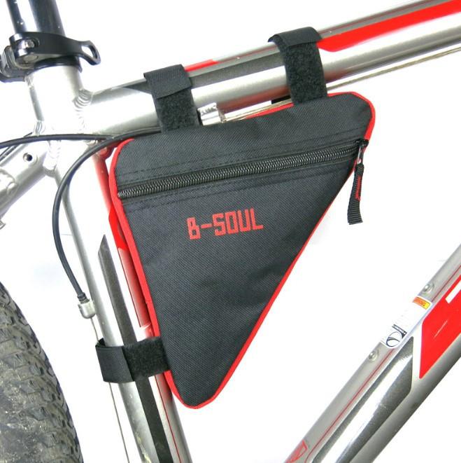Велосумка под раму теругольная B-Soul black-red