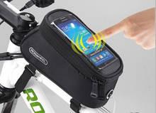 Велосумка на раму с отделением для телефона Roswheel black