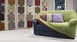 Чехол натяжной на угловой диван без оборки MILANO  шоколадный 201. Чехол полностью обтянет ваш диван!!!, фото 3