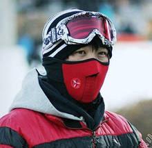 Защитная маска для лица и шеи Velo red