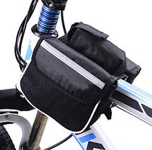 Сумка велосипедная на раму Double-B black