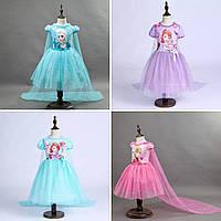 Платье для девочки с принцессами (Анна, Эльза , София)